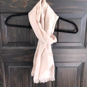 Champagne coach scarf extra wide